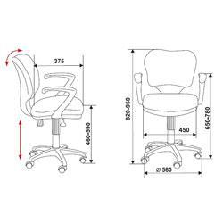 Кресло для персонала СН 540 Low