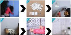 Мобильная перегородка Оригами